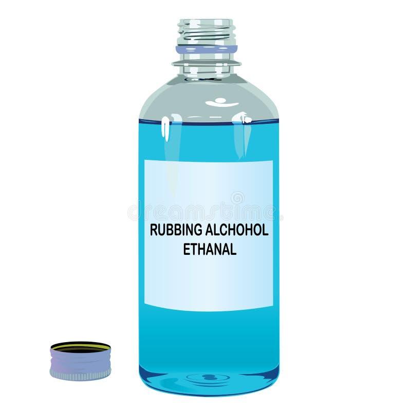 外用酒精Ethanal传染媒介 皇族释放例证