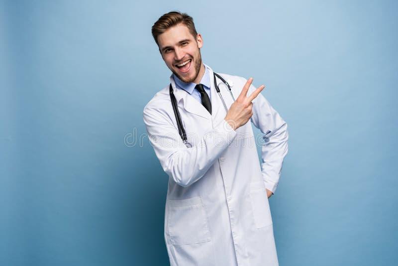 外科医生医生人骄傲和自满在浅兰隔绝的爱概念 库存图片