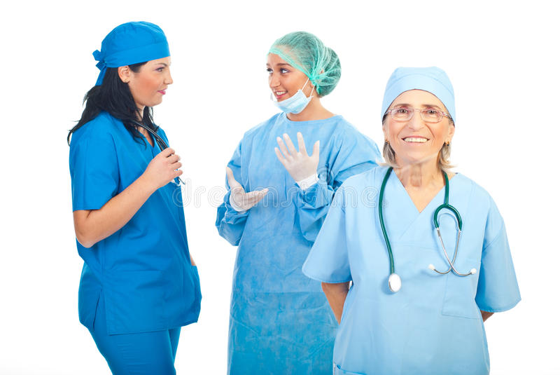外科医生小组妇女 免版税库存图片