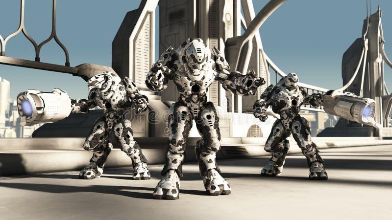 外籍争斗Droids 向量例证
