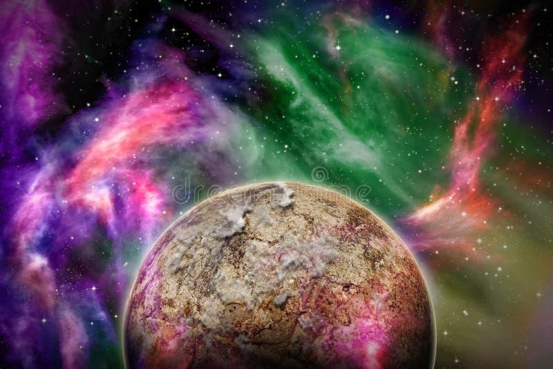 外籍人空间场面 向量例证