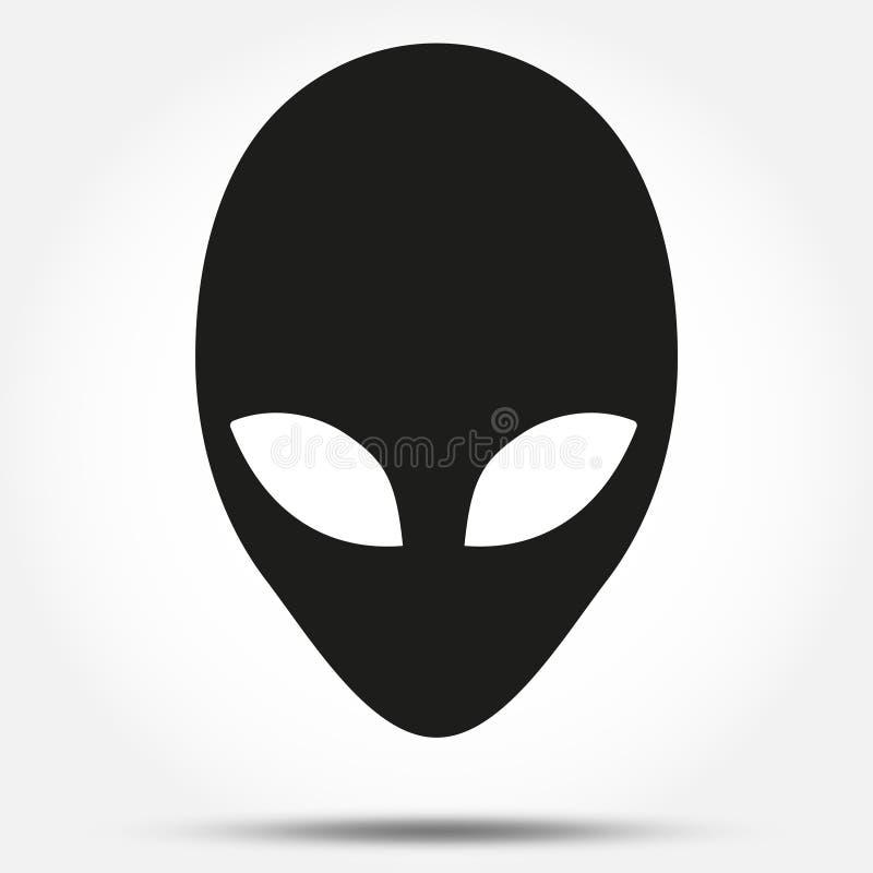 外籍人顶头生物的剪影标志从 皇族释放例证