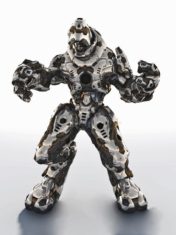 外籍作战Droid 向量例证