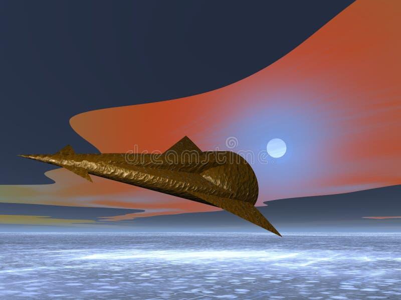 外籍太空飞船 皇族释放例证