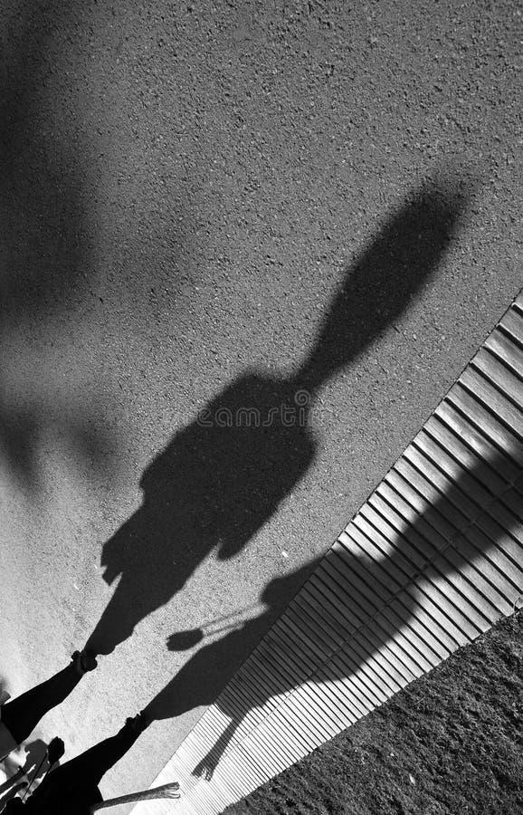 外籍影子 免版税库存照片