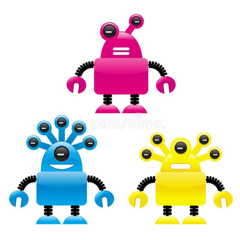外籍机器人 皇族释放例证