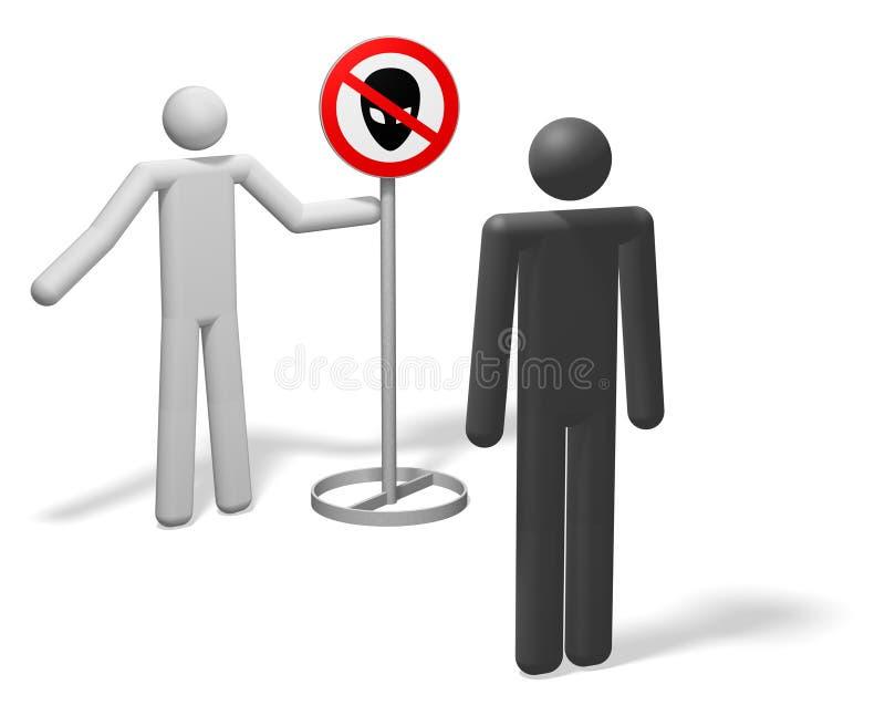 外籍歧视 皇族释放例证