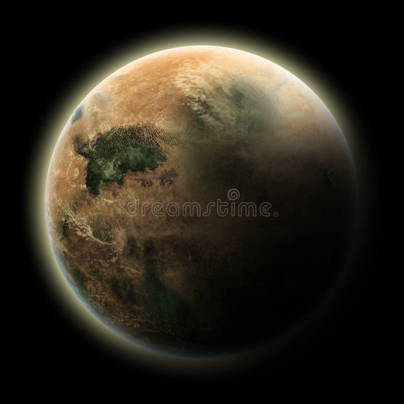 外籍沙漠行星 向量例证
