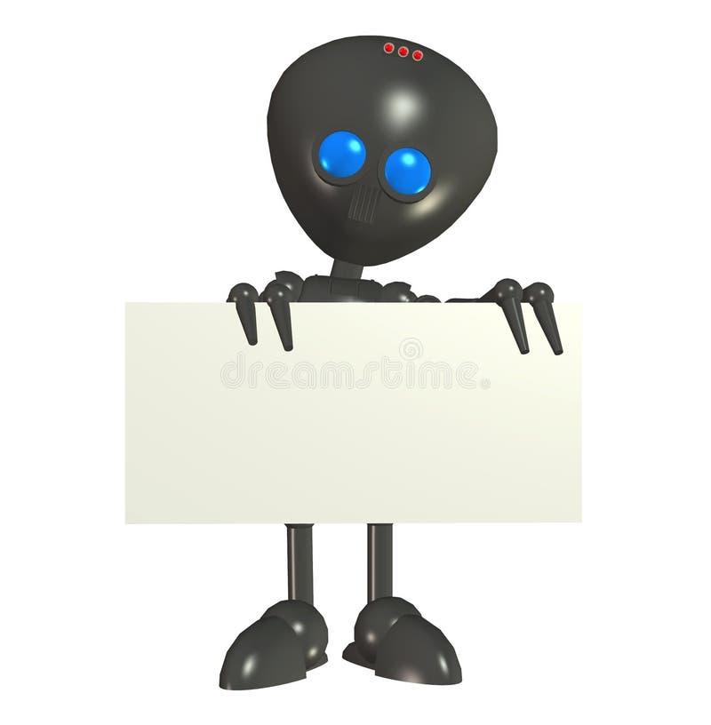 外籍空白董事会机器人符号 皇族释放例证