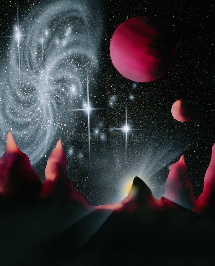 外籍空间世界 库存例证