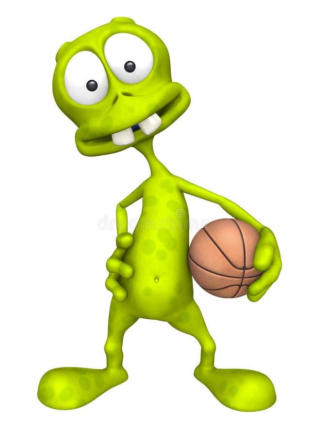 外籍篮球空间 向量例证