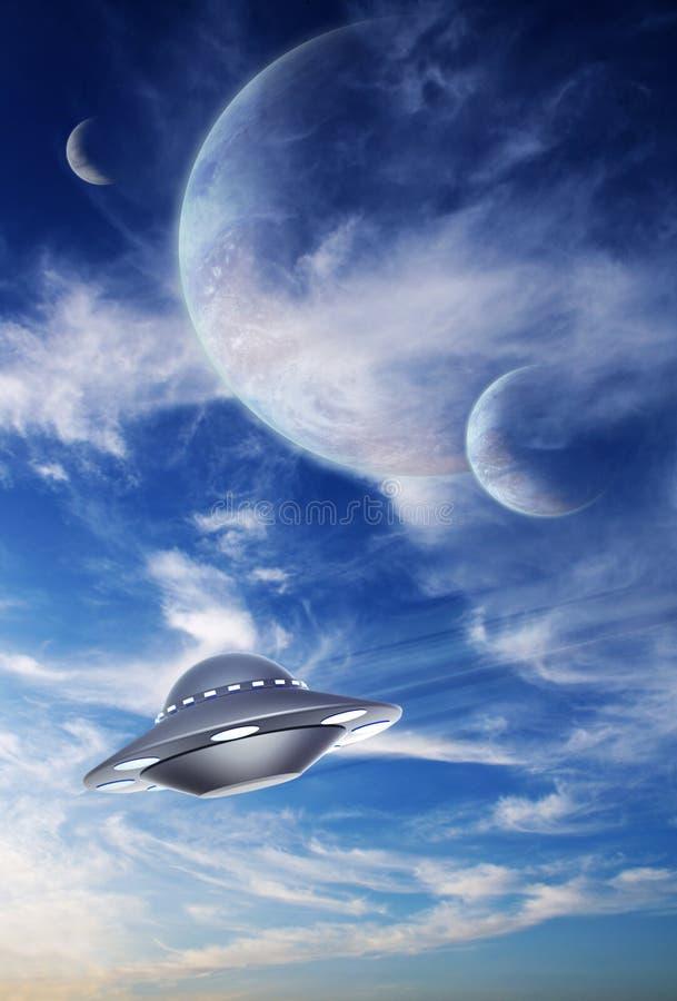 外籍行星天空 皇族释放例证