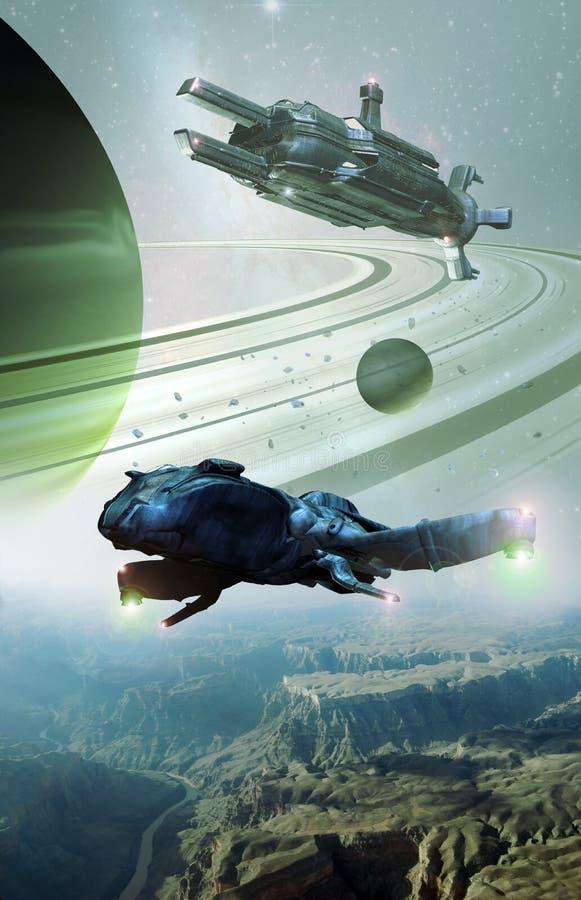 外籍行星 向量例证