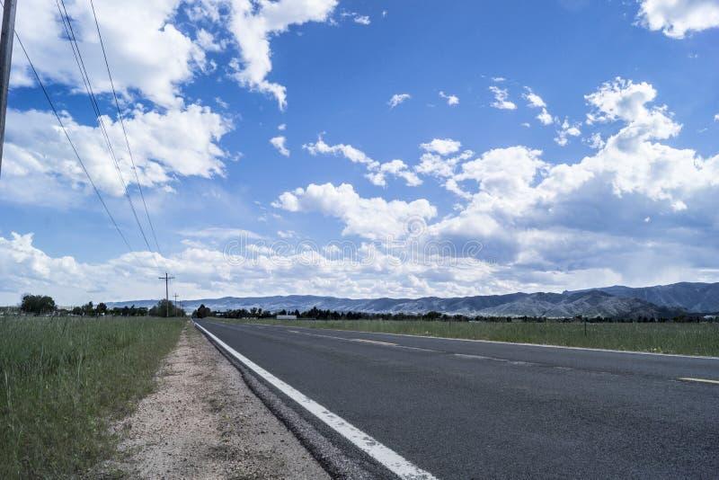 外英里在科罗拉多山麓小丘 图库摄影
