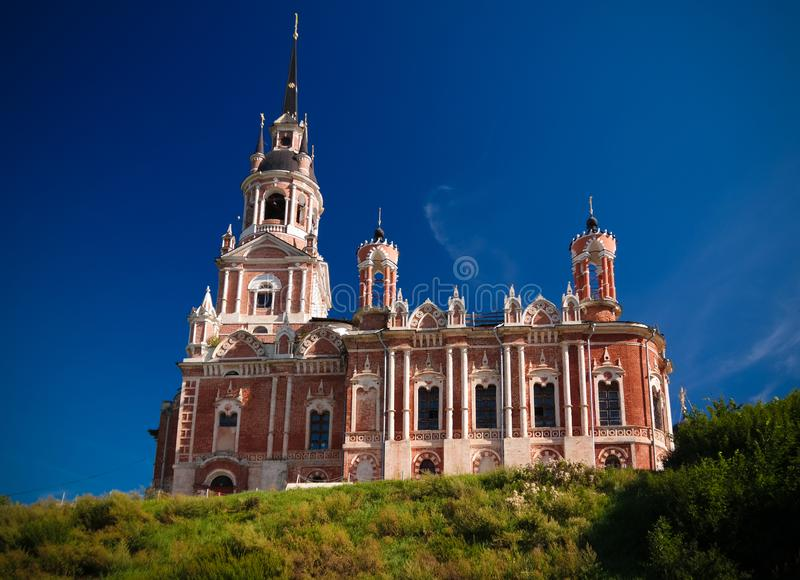 外视图诺沃Nikolsky大教堂在Mozhaysk克里姆林宫,莫斯科地区,俄罗斯 库存图片
