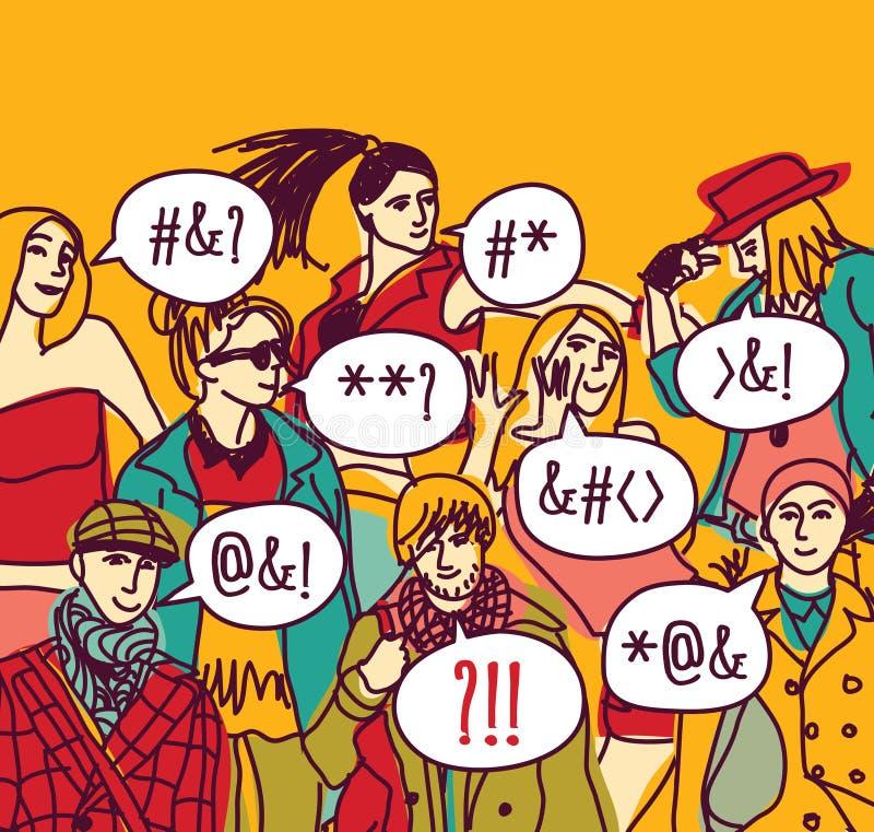 外语误解人 库存例证