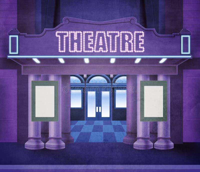 外部剧院 皇族释放例证