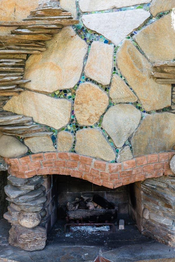 外部壁炉 免版税库存照片