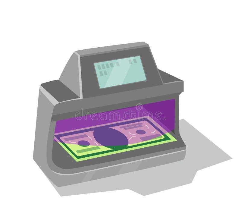 紫外钞票探测器 库存例证