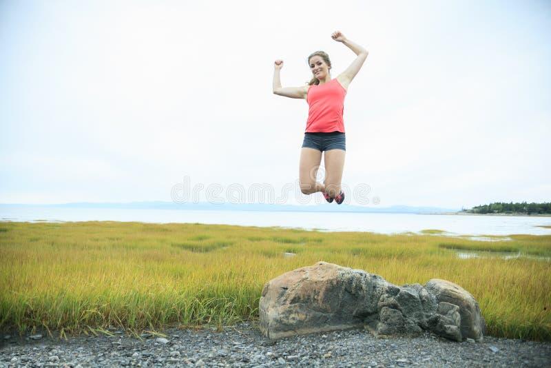 外面体育妇女 免版税库存图片