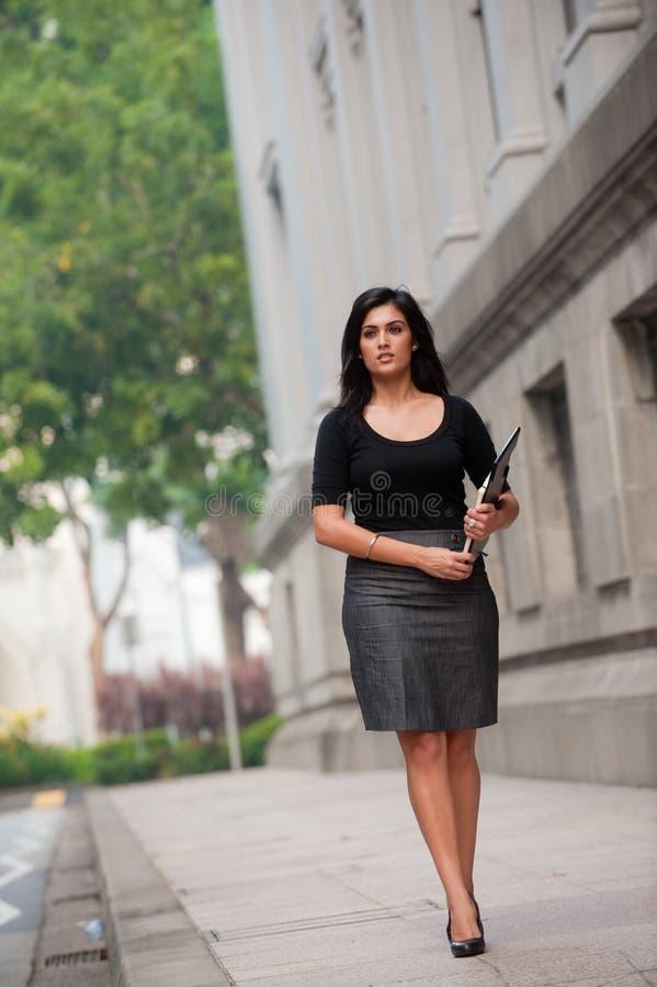 外面女实业家 免版税库存照片