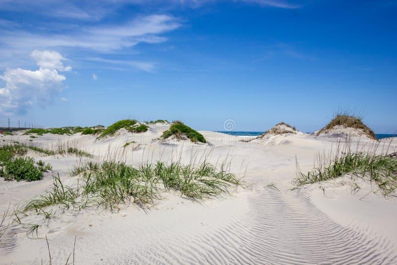 外面岸沙沙丘 库存图片