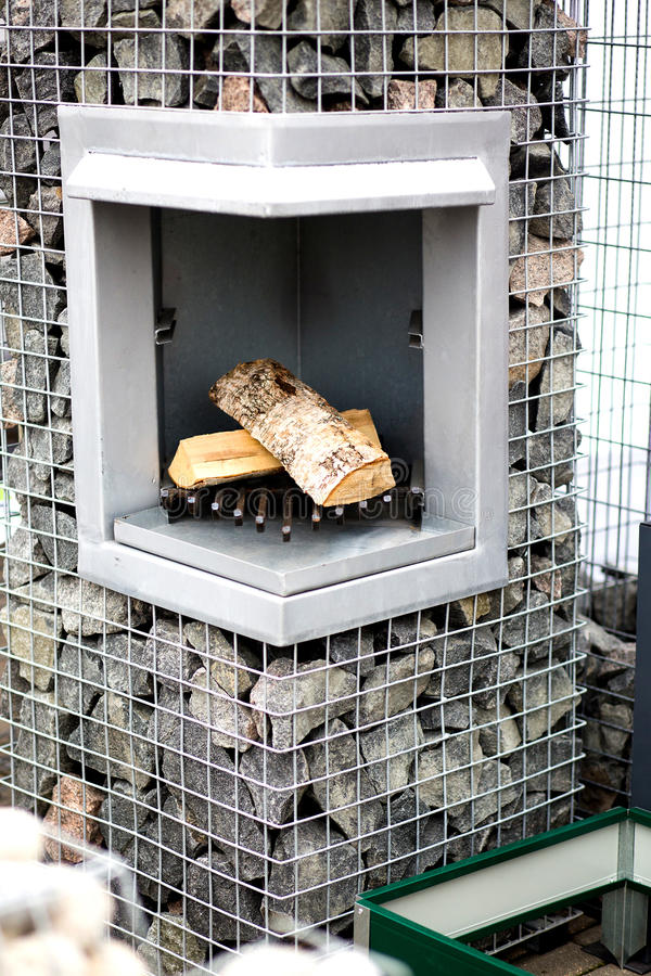 外面石壁炉 库存照片