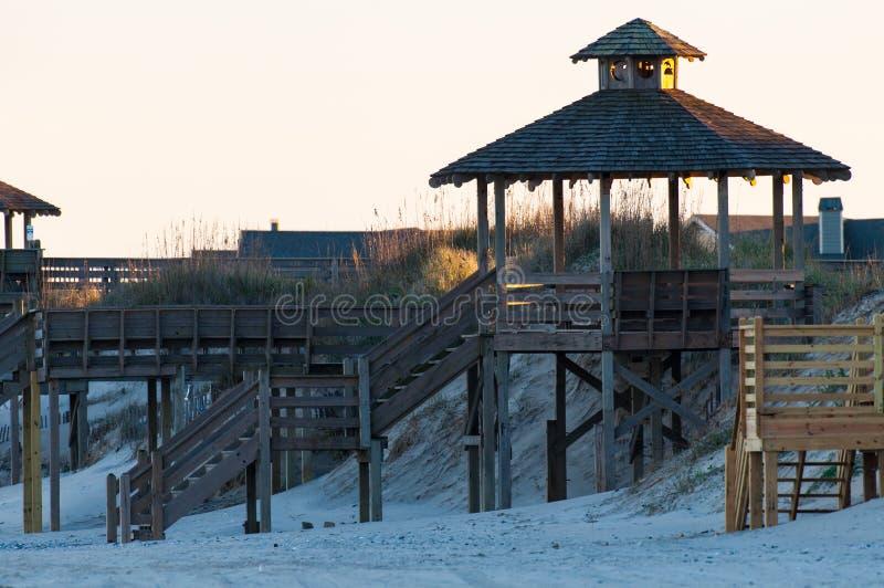 外面银行海滩通入 免版税库存图片