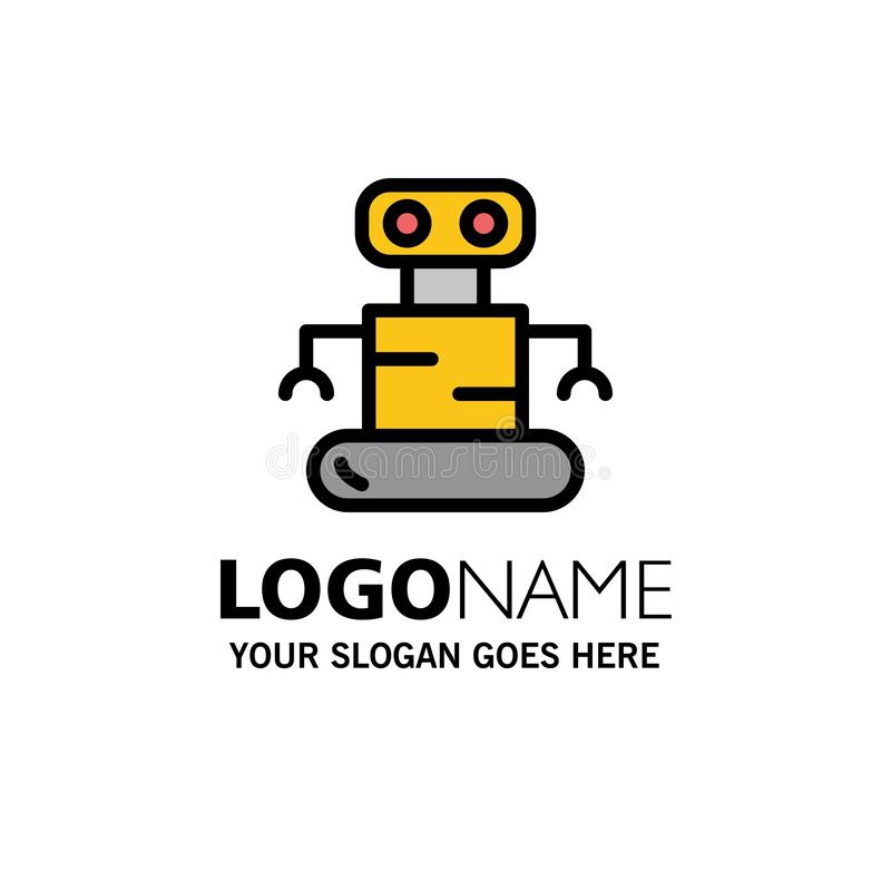 外骨骼,机器人,空间企业商标模板 o 向量例证
