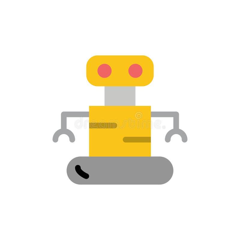 外骨骼,机器人,空间平的颜色象 传染媒介象横幅模板 皇族释放例证
