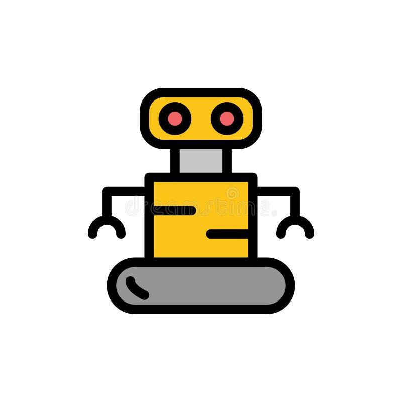 外骨骼,机器人,空间平的颜色象 传染媒介象横幅模板 库存例证