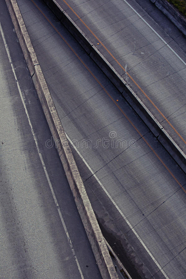 多个高速公路的级别 免版税库存照片