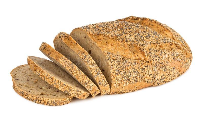 多五谷面包 免版税库存图片