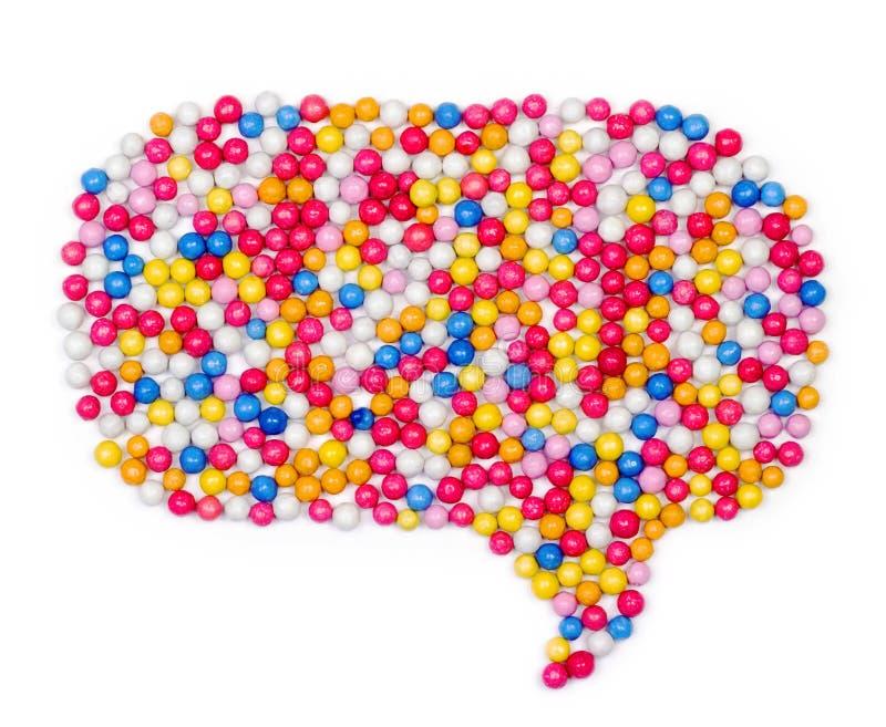 多五颜六色的球糖果甜点 免版税图库摄影