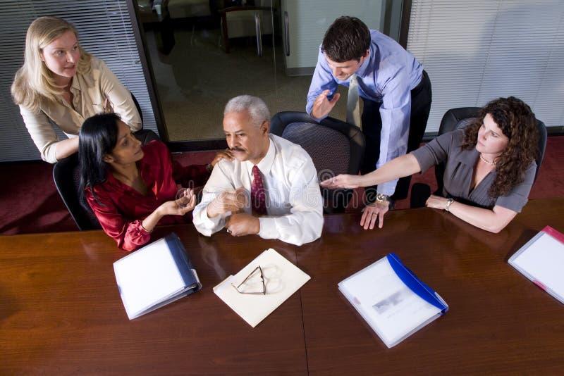 多企业种族的会议 免版税库存照片