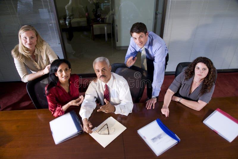 多企业种族的会议 免版税图库摄影