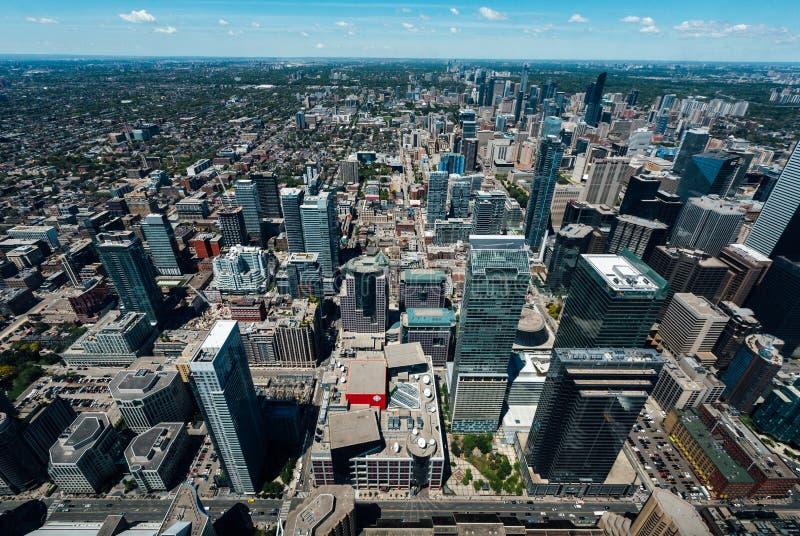 多伦多加拿大街市鸟瞰图 库存照片