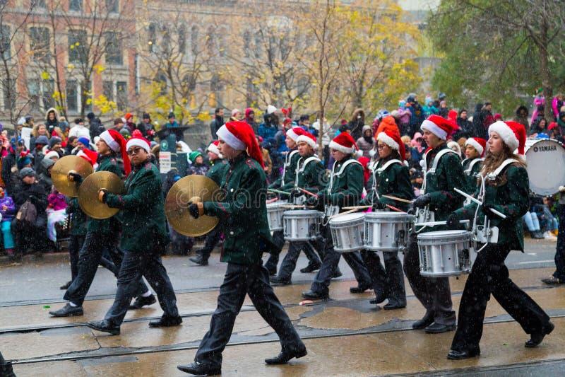 多伦多圣诞老人游行 库存照片