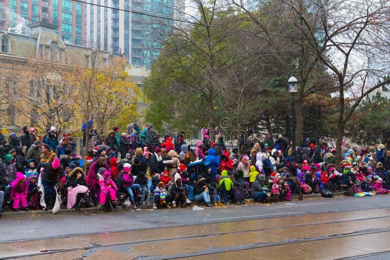 多伦多圣诞老人游行 免版税库存照片
