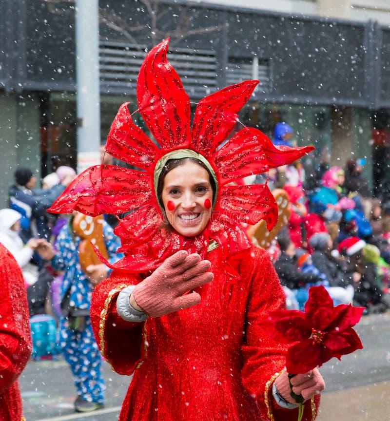 多伦多圣诞老人游行 免版税图库摄影