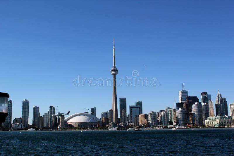 多伦多地平线:加拿大国家电视塔 库存照片