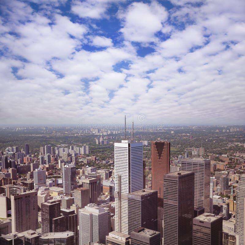 多伦多的市中心看法, 库存图片