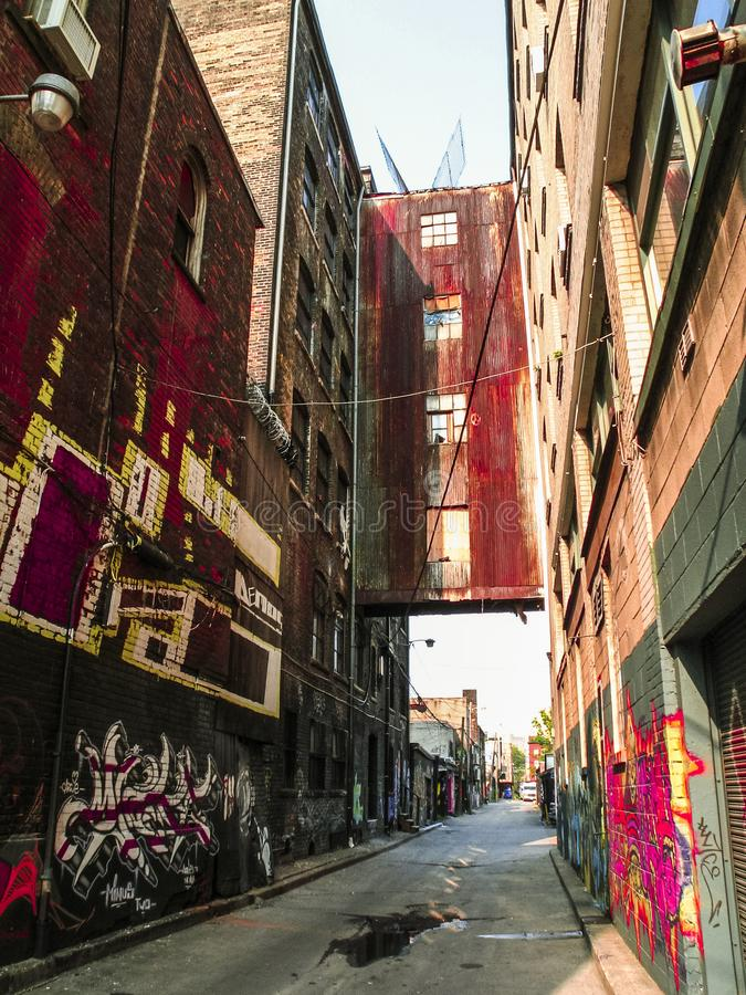 多伦多的街道画胡同 免版税库存照片