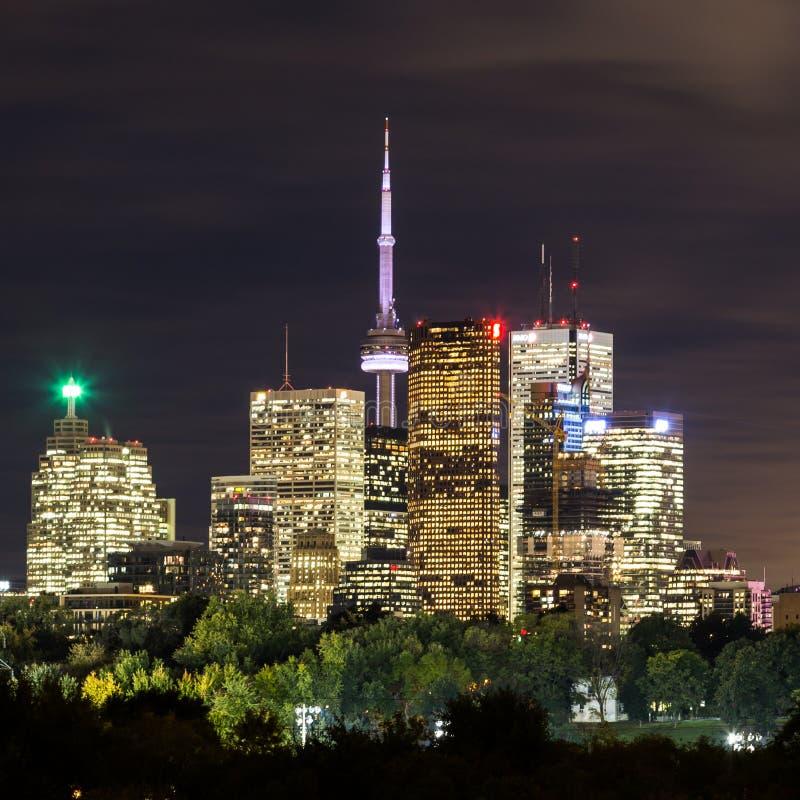 多伦多街市在黄昏 免版税库存图片