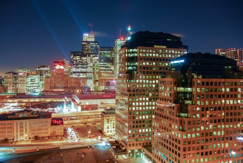 多伦多街市都市风景 免版税库存照片