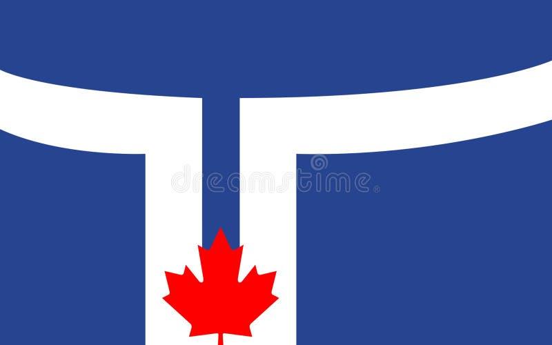 多伦多,加拿大旗子安大略的 皇族释放例证