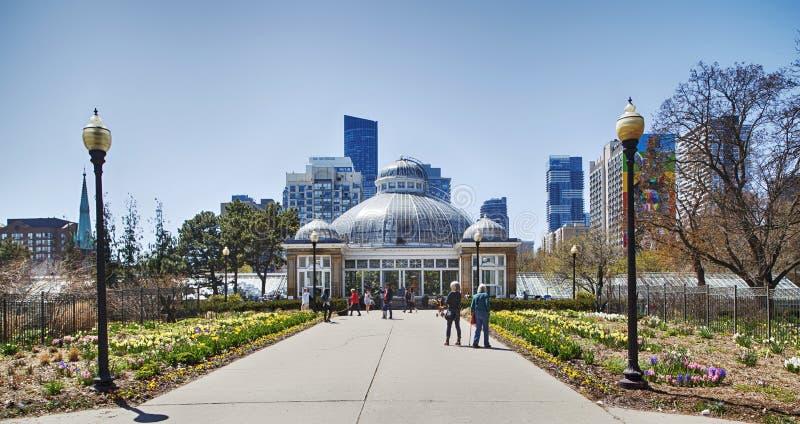 多伦多,加拿大- 2019年5月5日:庭院和温室亚伦庭院的,多伦多,加拿大 免版税库存照片