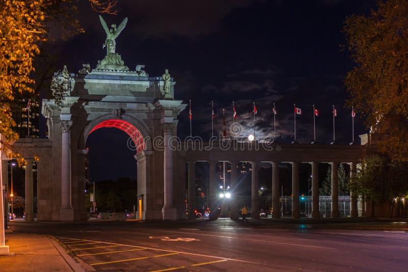 多伦多,加拿大- 2018年10月23日:满月的Gates王子的 库存图片