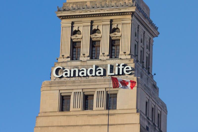 多伦多,加拿大- 2016年12月20日:加拿大人寿保险公司的总部 免版税图库摄影