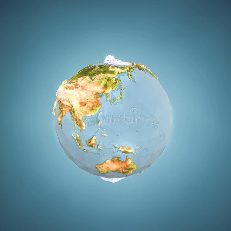 多低Panet的地球 库存例证